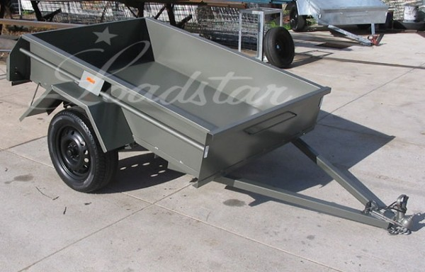 6x4ft 14 Inch Single Door Trailer