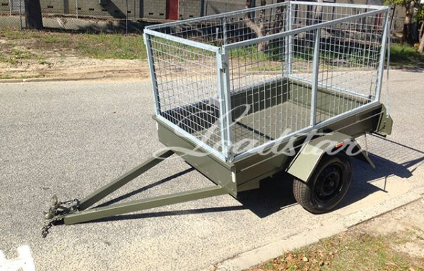 6x4ft 12 inch City Trailer with 900mm Cage