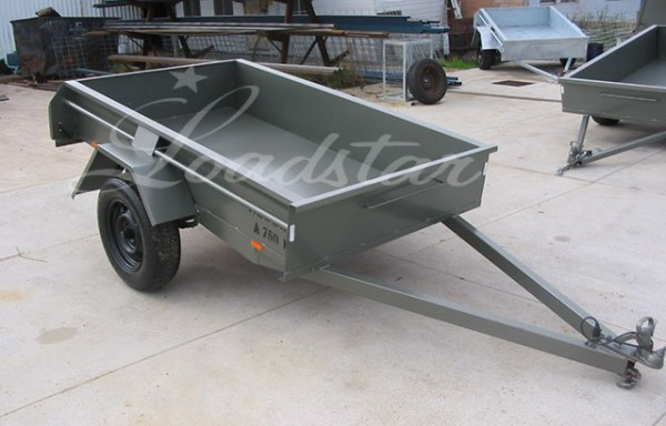 7x4ft 14 Inch Single Door Trailer