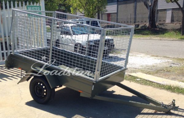 7x4ft 12 inch City Trailer with 900mm Cage