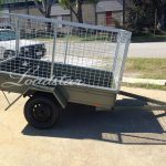 7x4 City Trailer Caged side view
