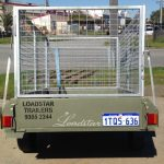 7x4 City Trailer Caged rear view
