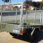 7x4 City Trailer Caged back view