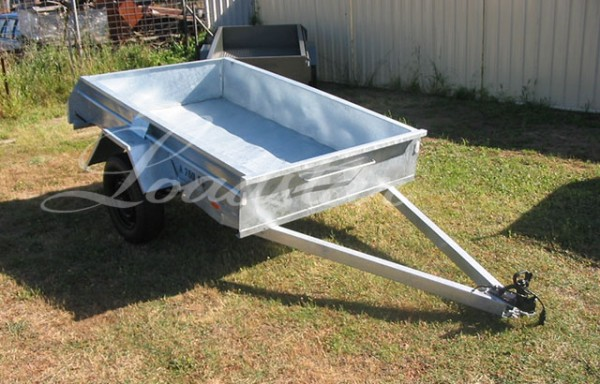 7x4ft 14 inch Single Door Trailer Galvanized
