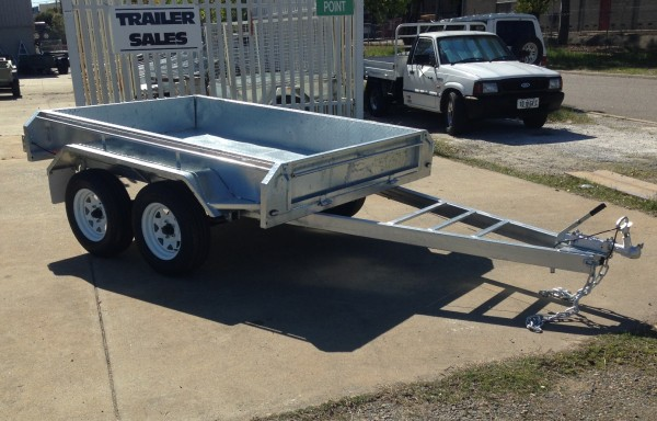 8x5ft Galvanized Tandem Trailer with Brakes