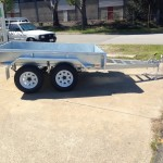 8x5 ft Galvanised Trailer side view
