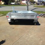 8x5 ft Galvanised Trailer rear view