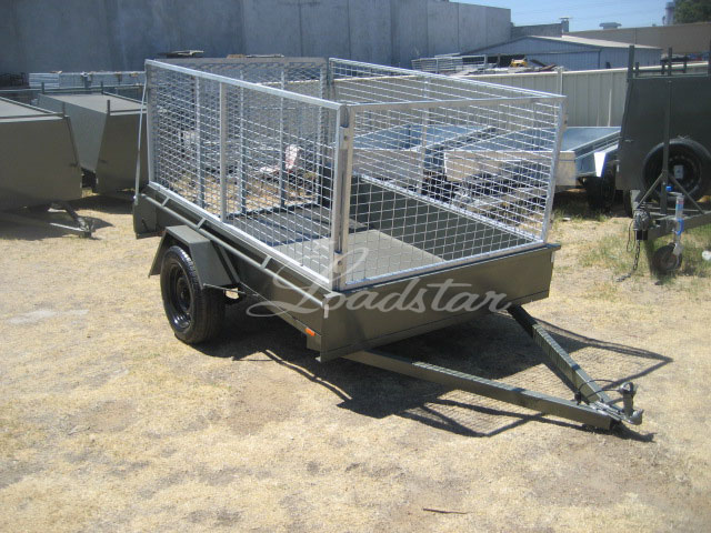 8x5 Cage Ramp front view