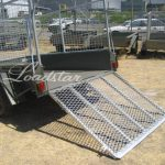 8x5 Cage Ramp rear view