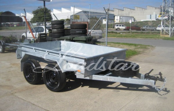 8x5ft 7 Leaf Rocker Trailer Galvanized