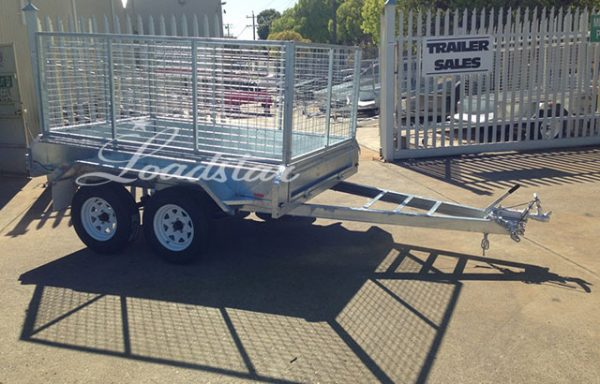 8x5ft Galvanised Caged Import Trailer with 900mm Cage