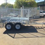 8x5 Galvanised Caged trailer side view