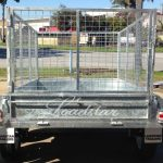 8x5 Galvanised Caged Trailer Rear view