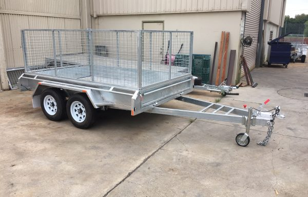 10 x 6 Galvanised Imported Tandem Trailer with Brakes And 900 Cage