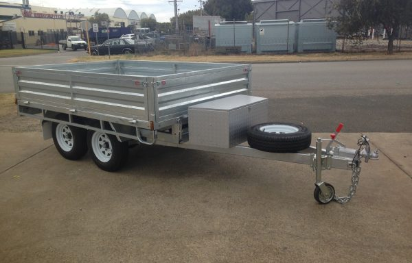 9x6ft onroad tipping flat top 2 tonne braked