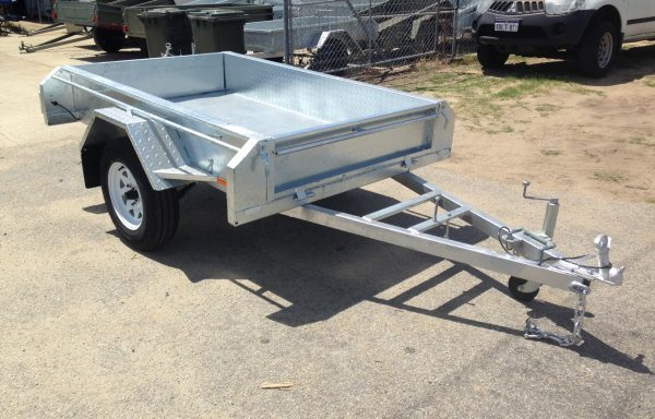 7x4ft Trailer Galvanized Import with 300mm Deep Tray
