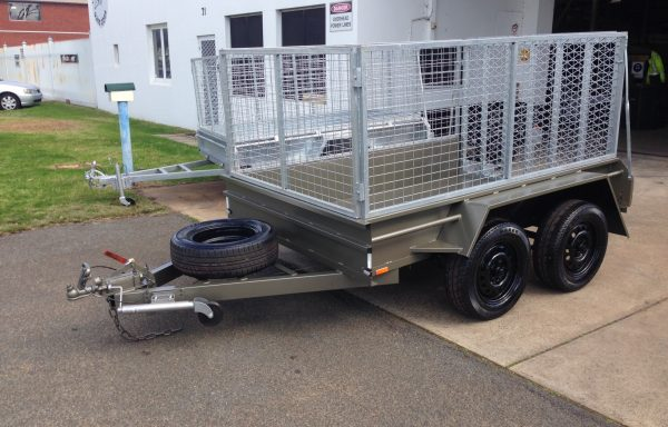 8x5ft 7 Leaf rocker with brakes, 900 cage and Spring Loaded Ramp