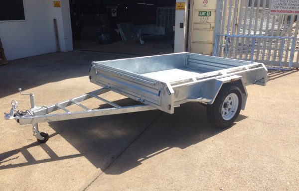 7×5 Galvanised Single Axle trailer