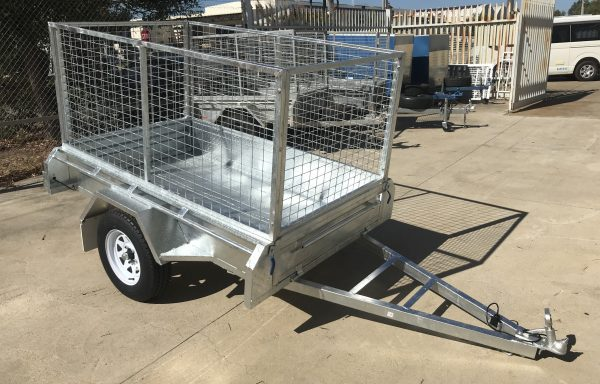 7x4ft Galvanised Import Trailer with 900mm Cage