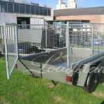 Caged 8x5 Tandem door trailer open