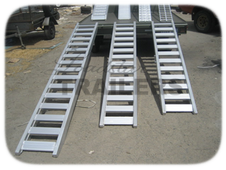Trailer car ramps
