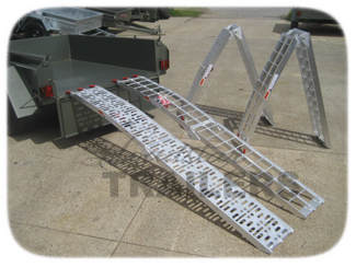 Trailer motorcycle ramp
