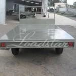 10x6 Flat top trailer rear view
