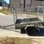6x4 City Cage Trailer side view