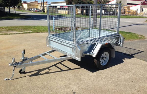 6x4ft Galvanised Caged Import Trailer with 900mm Cage