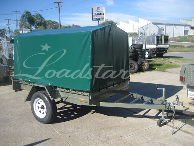 7x4 PVC Covered Trailer
