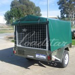 7x4 PVC Covered Trailer rear view