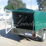 7x4 PVC Covered Trailer open