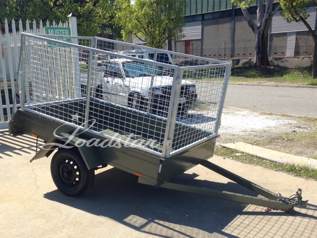 7x4 City Trailer Caged front view