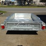 7x4 Galvanised Trailer rear view