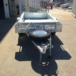 7x4 Galvanised Trailer front view