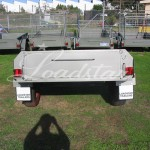 7x4 off road trailer rear view