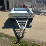8x5 ft Galvanised Trailer front view