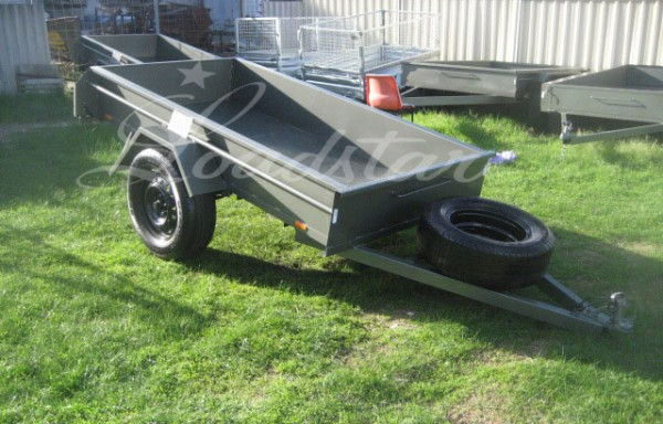 8x4ft 14 Inch Single Door Trailer