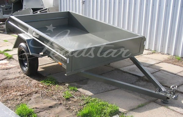 8x5ft 14 Inch Dual Door Trailer