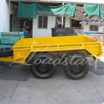 8x5 off road trailer yellow side view