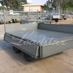 8x5 flat top trailer sides open