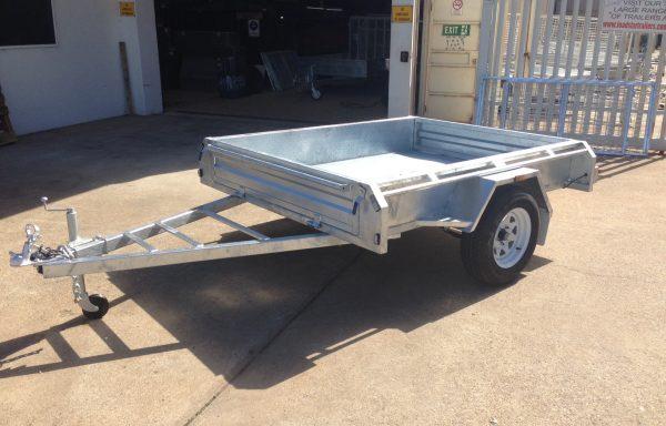 7×5 Galvanised Single Axle trailer