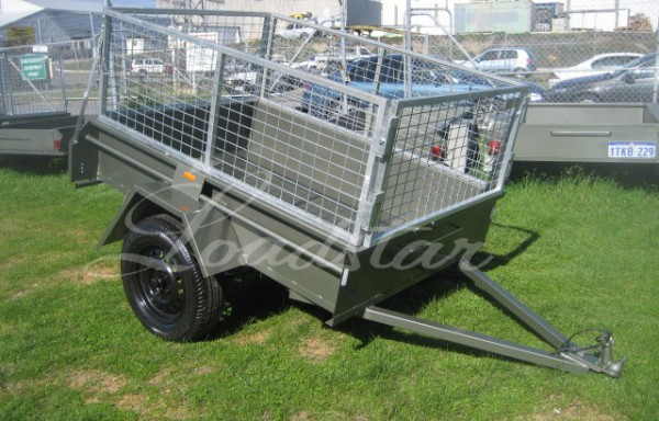 6x4ft 14inch Trailer with 600mm Cage