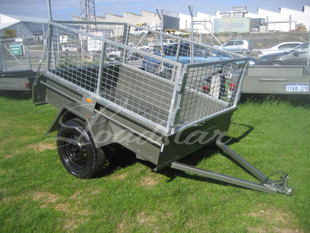 Caged 6x4 Single door trailer