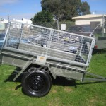 Caged 6x4 Single door trailer side view