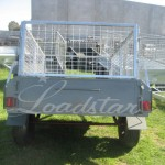Caged 6x4 Single door trailer rear view
