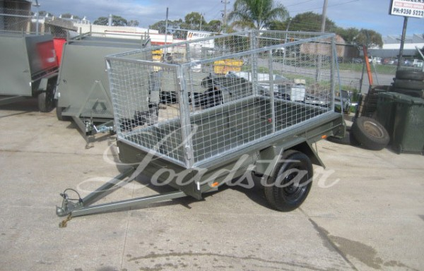 7x4ft City Trailer with 900mm Cage