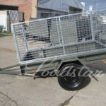 Caged 7x4 Single door trailer side view