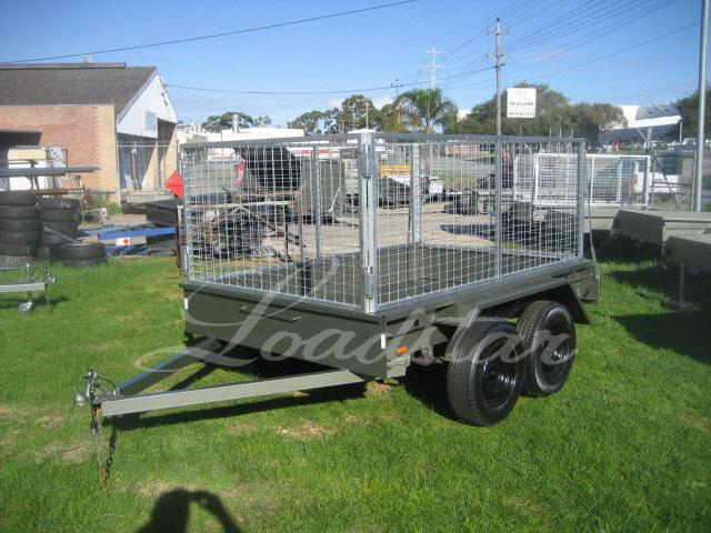 Caged 8x5 Tandem door trailer