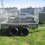 Caged 8x5 Tandem door trailer side view